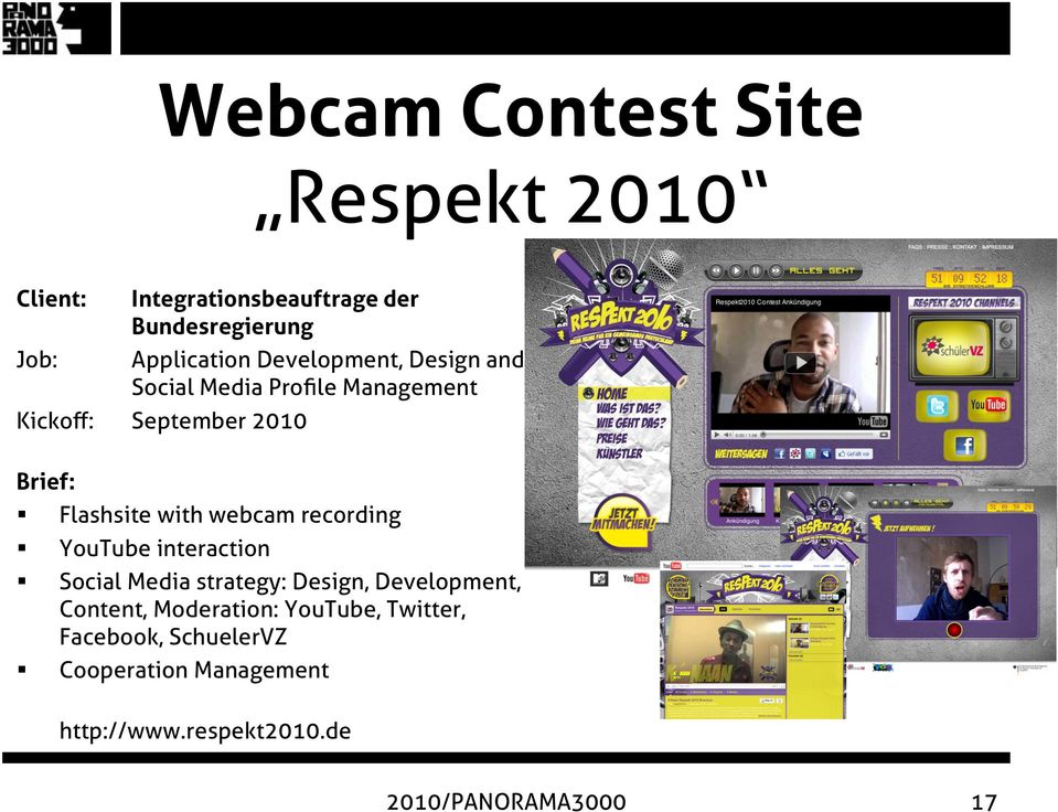 with webcam recording YouTube interaction Social Media strategy: Design, Development, Content,
