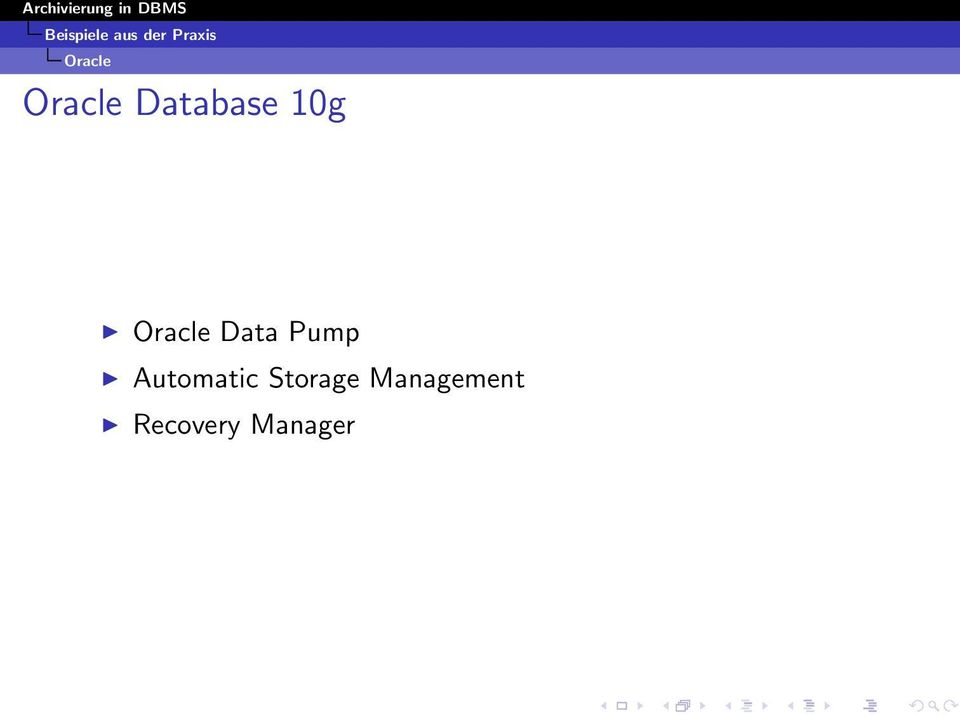 Oracle Data Pump Automatic
