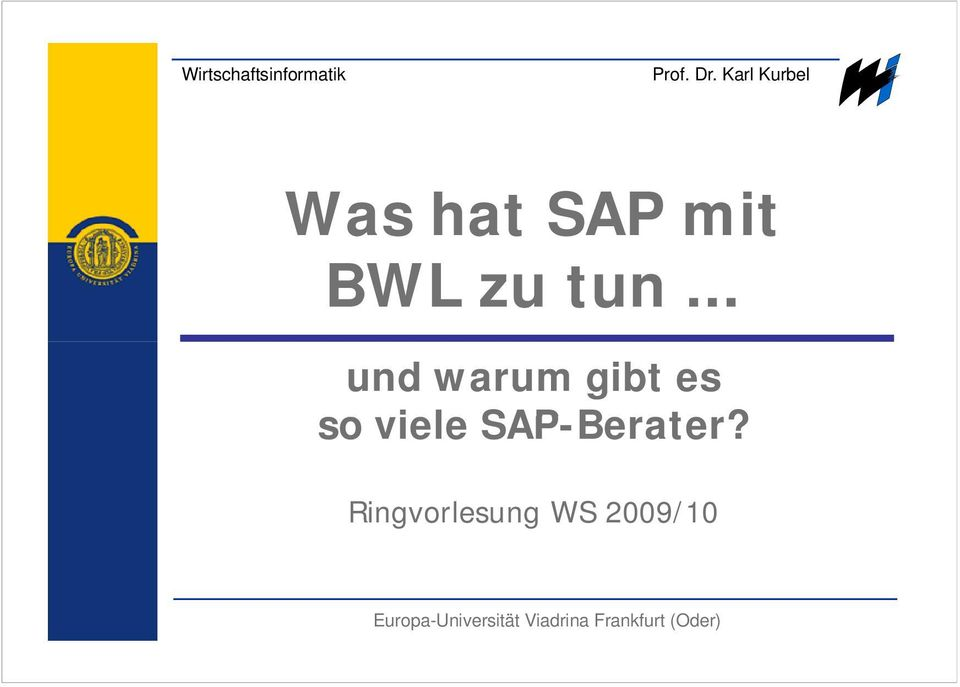 SAP-Berater?