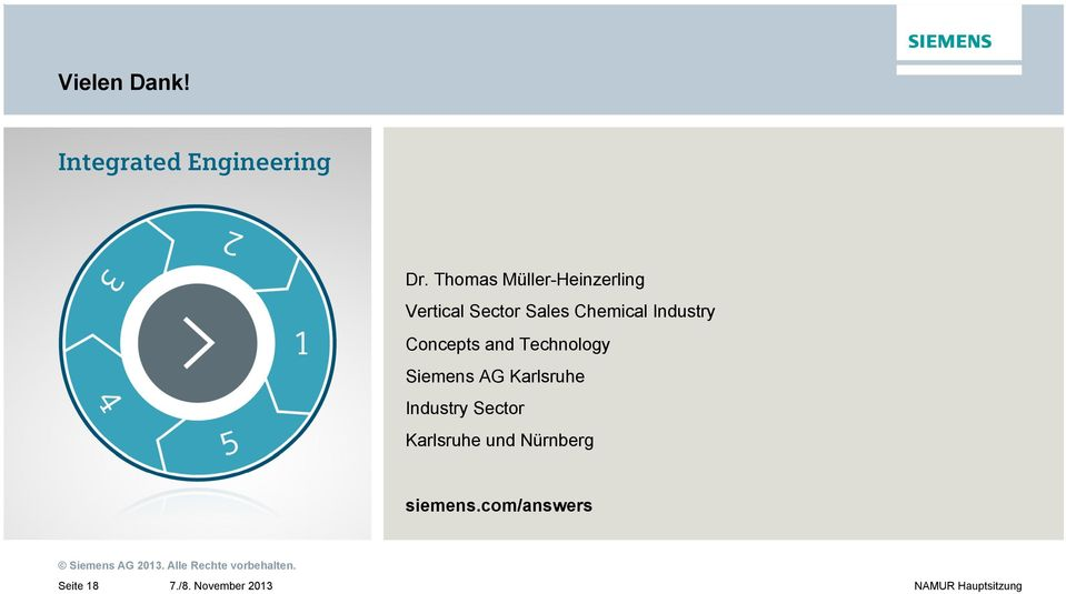 Chemical Industry Concepts and Technology Siemens AG