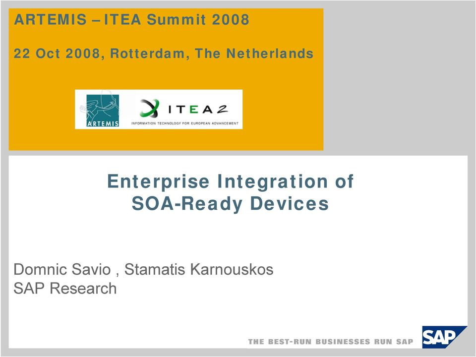 Integration of OA-Ready Devices