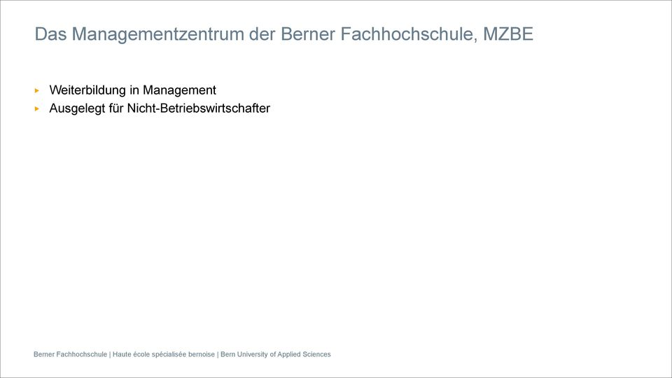 Weiterbildung in Management