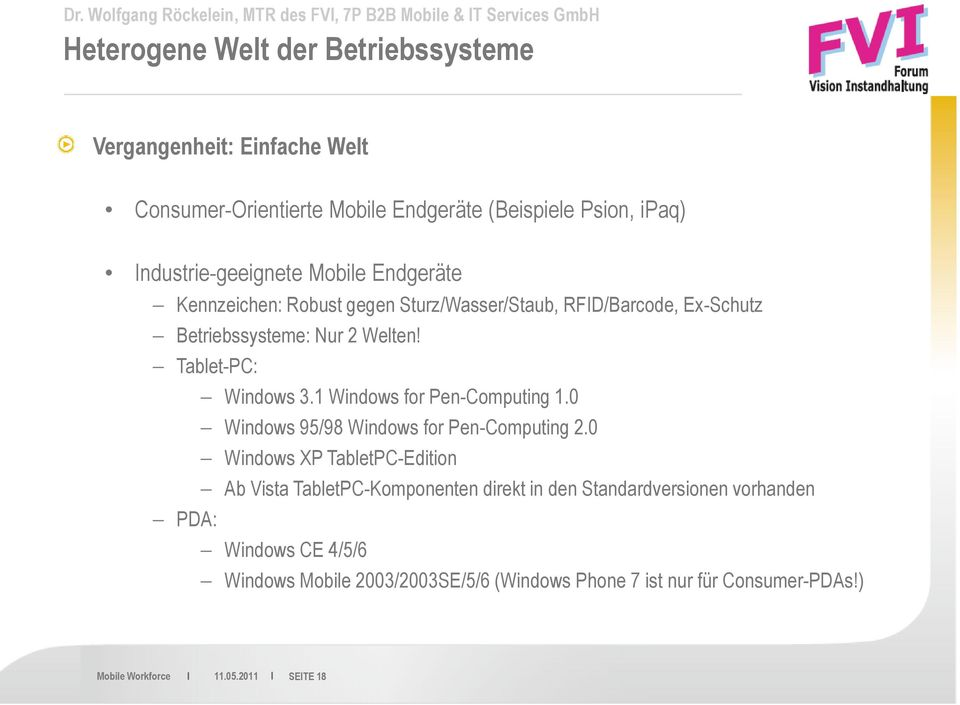 Welten! Tablet-PC: Windows 3.1 Windows for Pen-Computing 1.0 Windows 95/98 Windows for Pen-Computing 2.