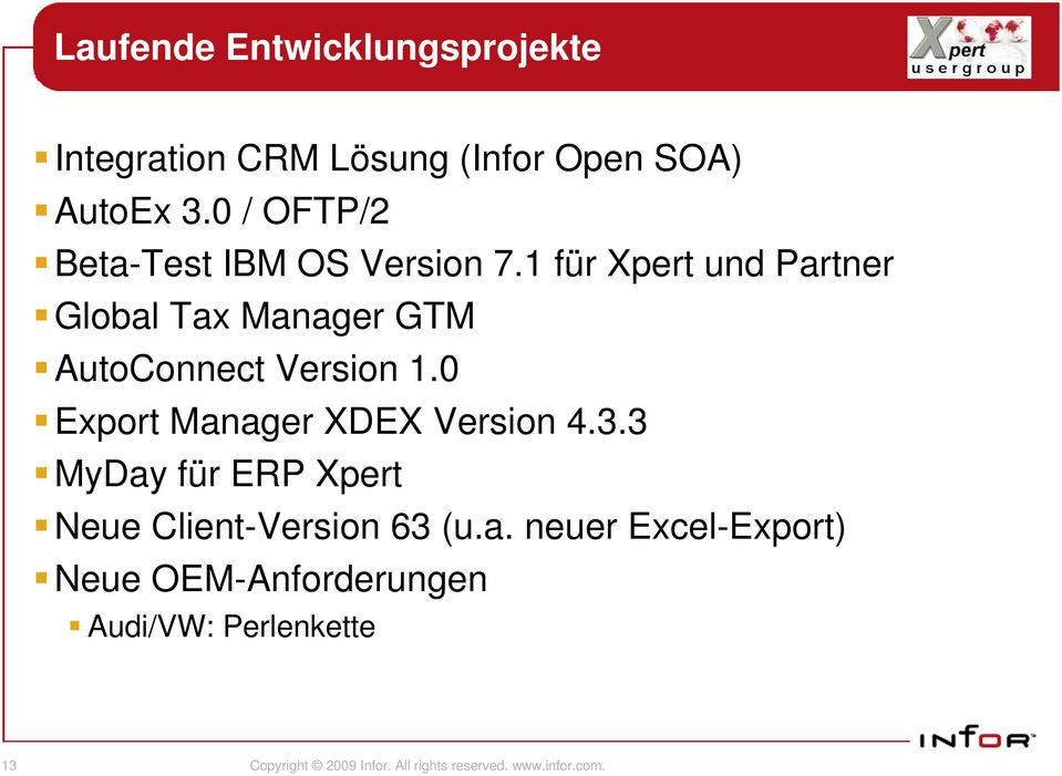 1 für Xpert und Partner Global Tax Manager GTM AutoConnect Version 1.