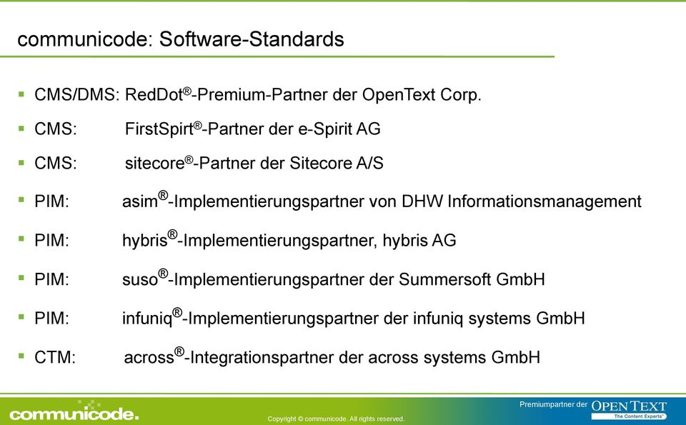 -Implementierungspartner von DHW Informationsmanagement hybris -Implementierungspartner, hybris AG suso