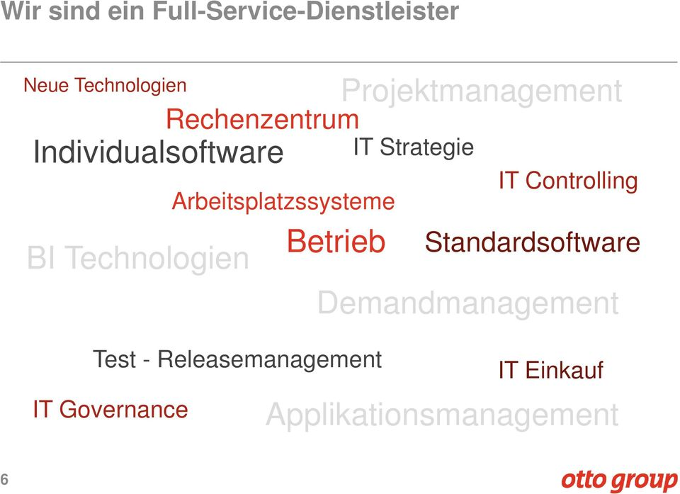 Projektmanagement IT Strategie Standardsoftware Demandmanagement Test -