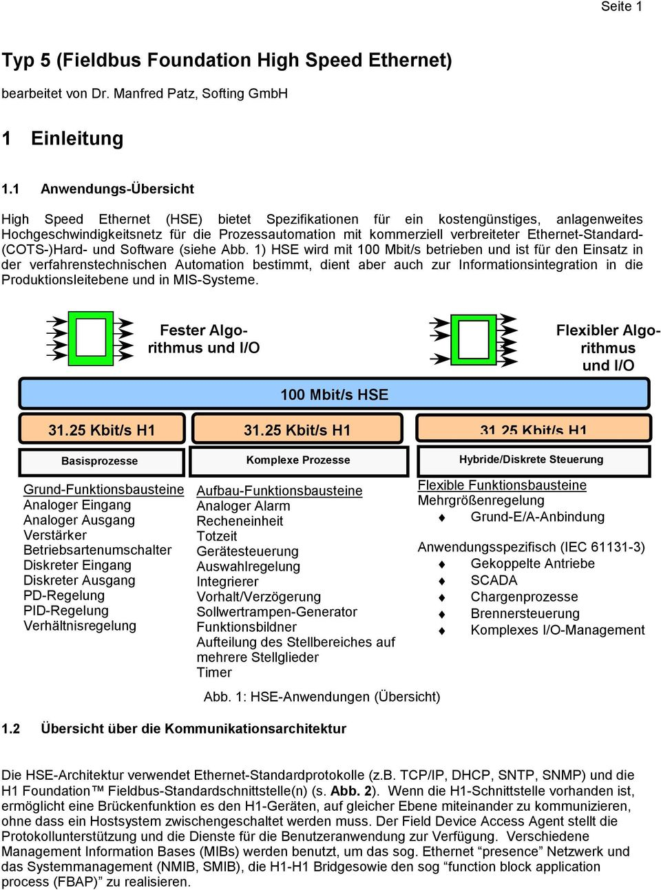 Ethernet-Standard- (COTS-)Hard- und Software (siehe Abb.
