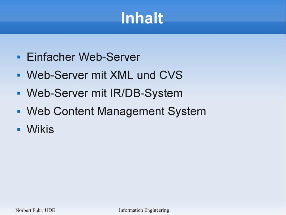 Web-Server mit IR/DB-System
