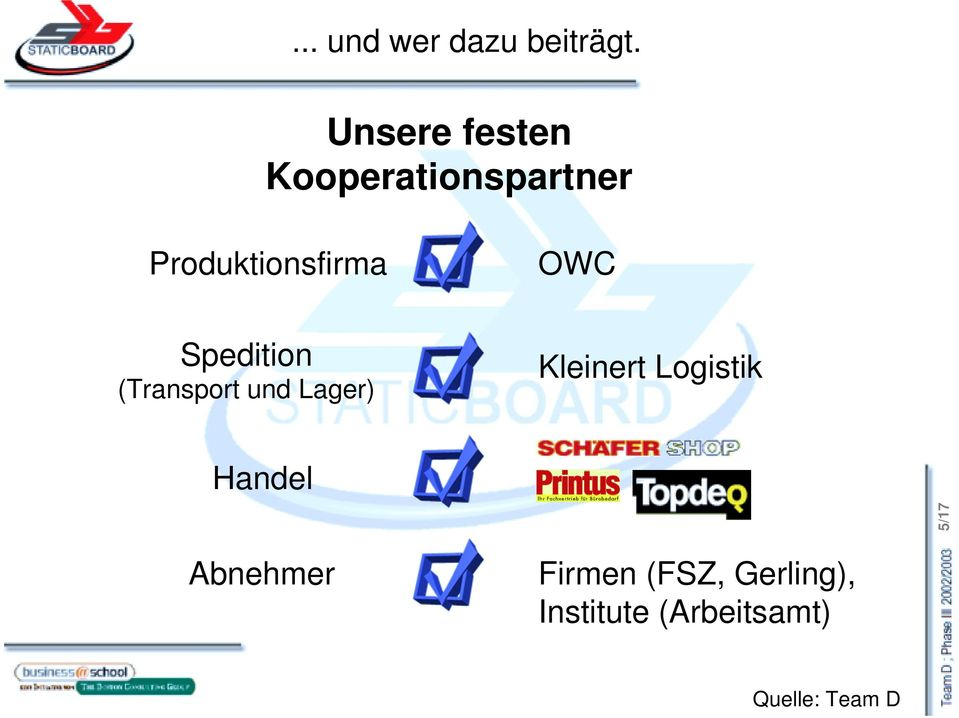 Produktionsfirma OWC Spedition (Transport und