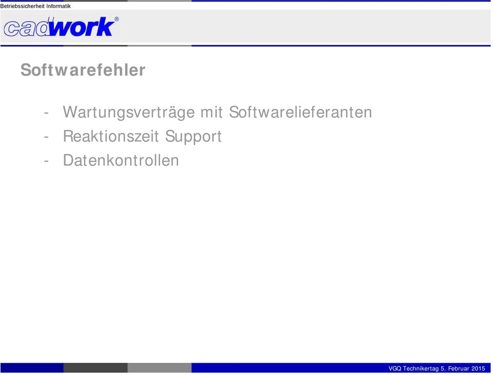 Softwarelieferanten -