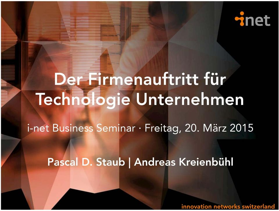 Business Seminar Freitag, 20.