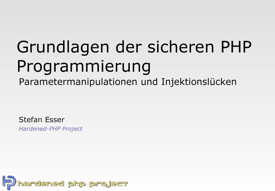 Parametermanipulationen und