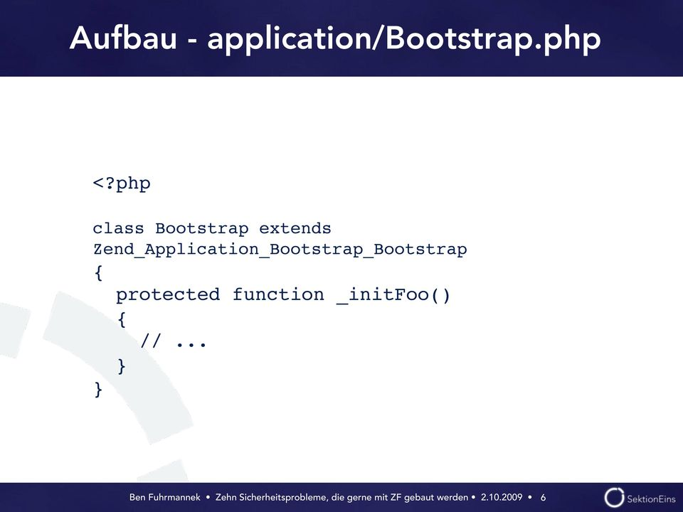 php class Bootstrap extends