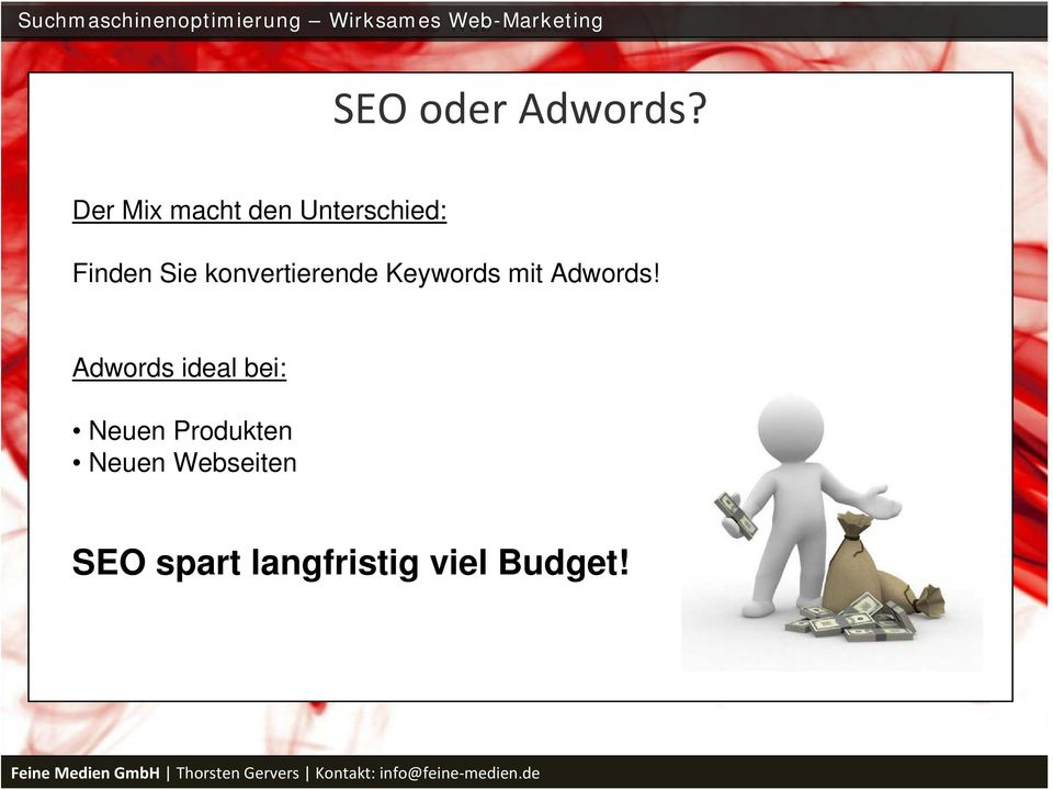 konvertierende Keywords mit Adwords!