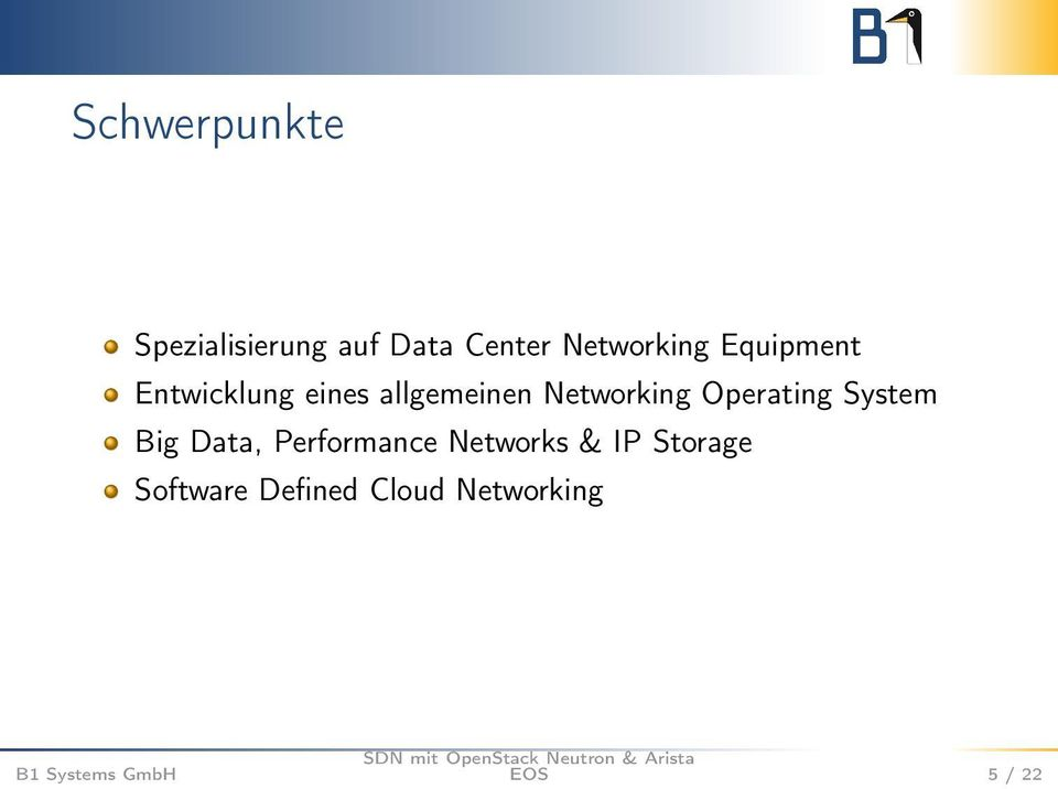 Networking Operating System Big Data, Performance