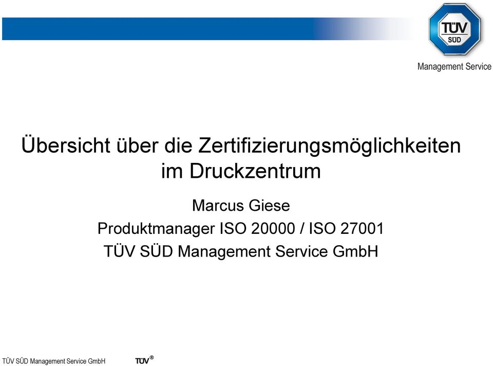 Marcus Giese Produktmanager ISO 20000 / ISO