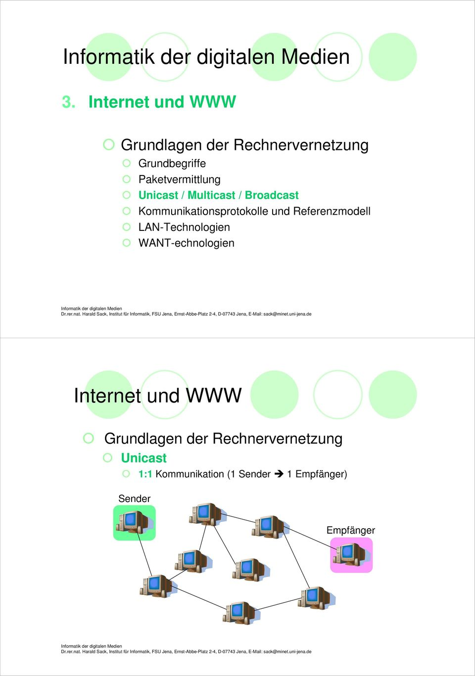 Referenzmodell LAN-Technologien WANT-echnologien