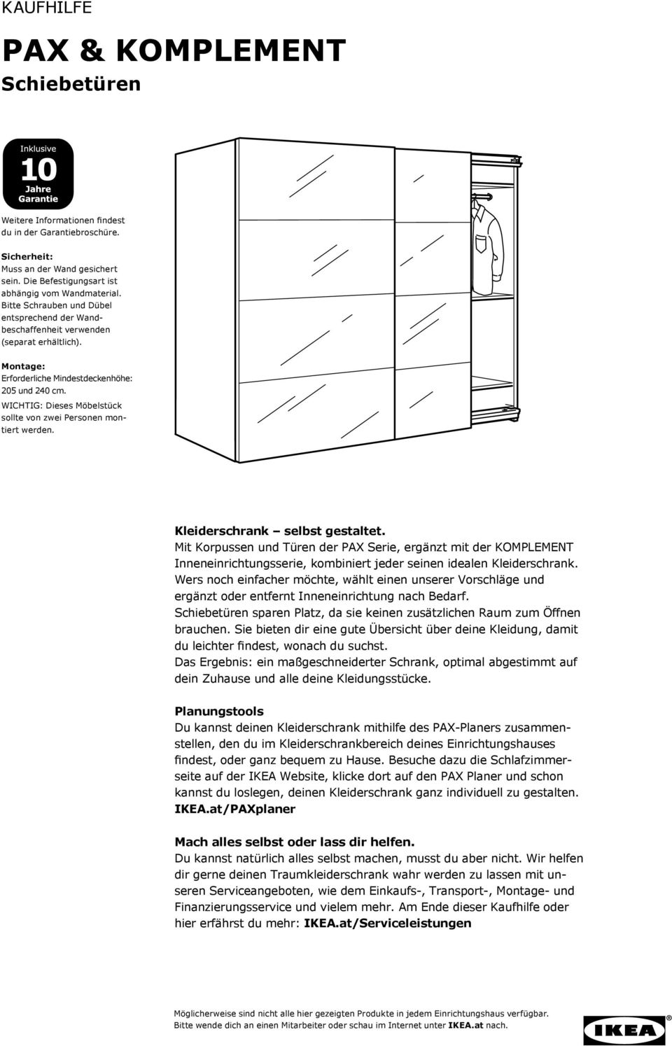 pax komplement schiebet ren kaufhilfe pdf. Black Bedroom Furniture Sets. Home Design Ideas