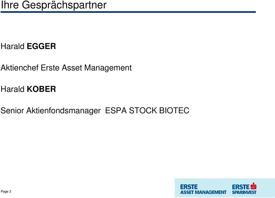 Management Harald KOBER Senior
