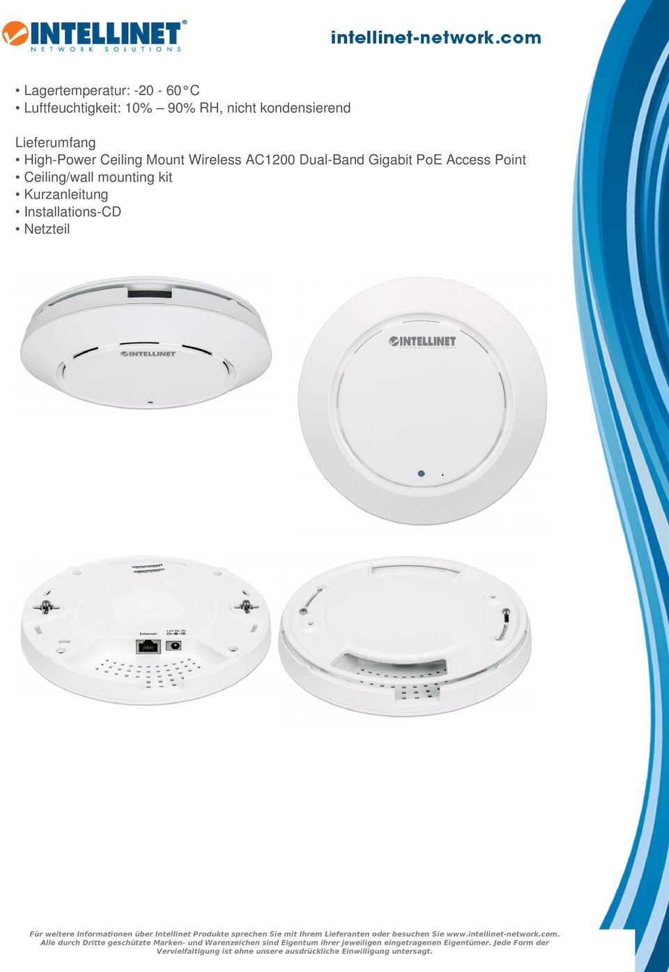 Wireless AC1200 Dual-Band Gigabit PoE Access Point