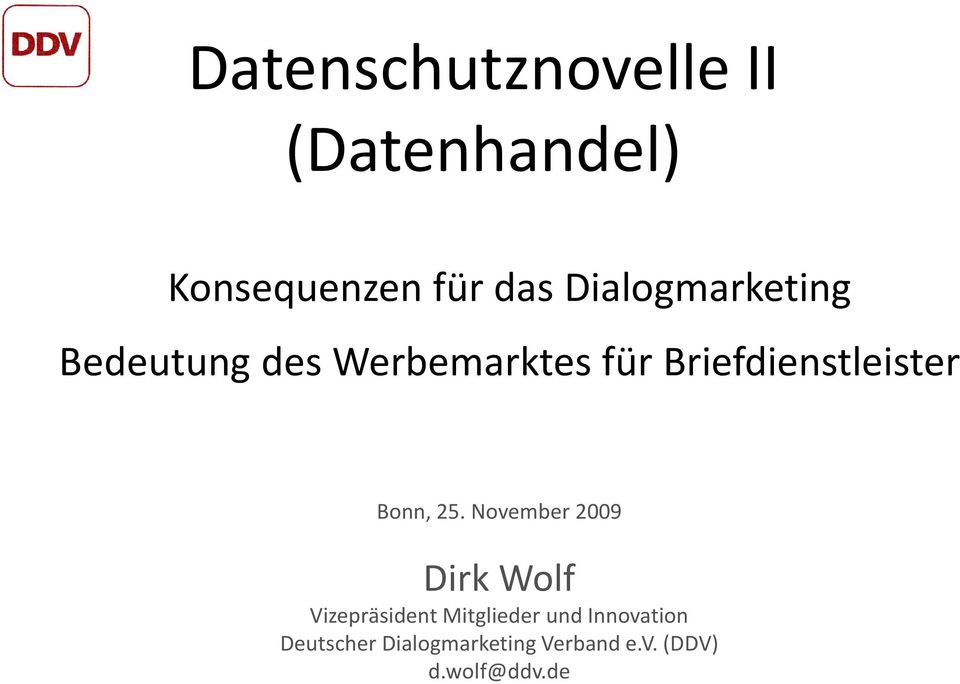 Briefdienstleister Bonn, 25.