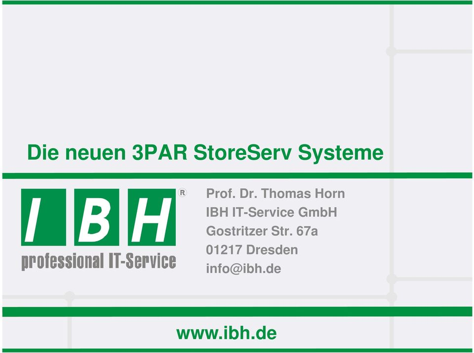 Thomas Horn IBH IT-Service GmbH