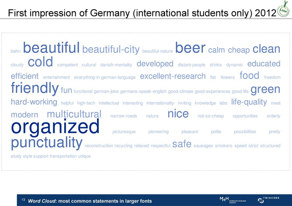 only) 2012 13 Word Cloud: