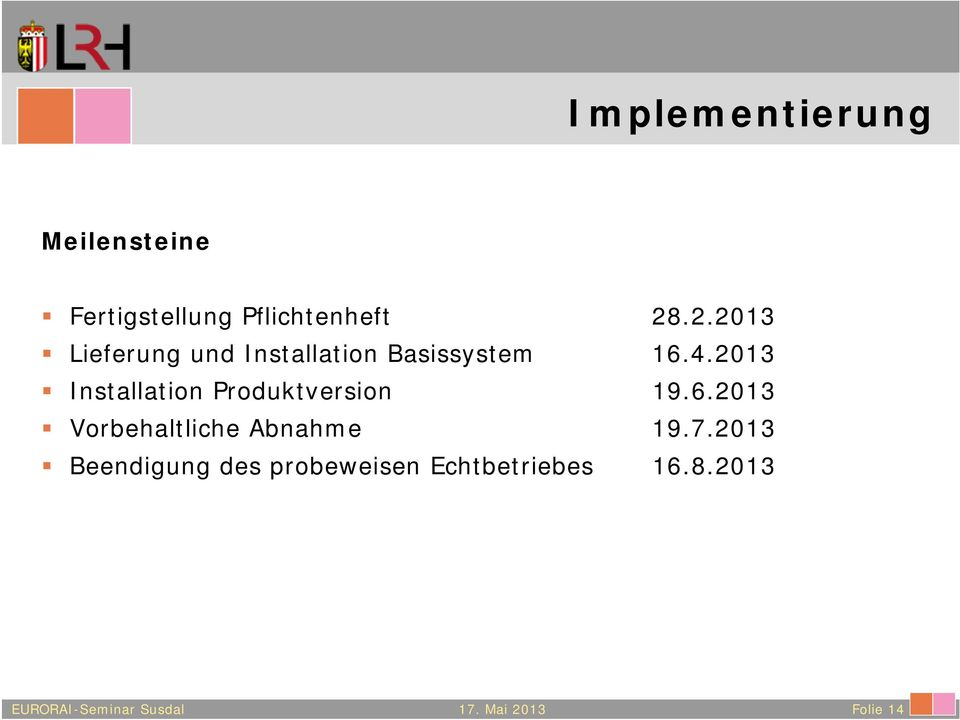 2013 Installation Produktversion 19.6.