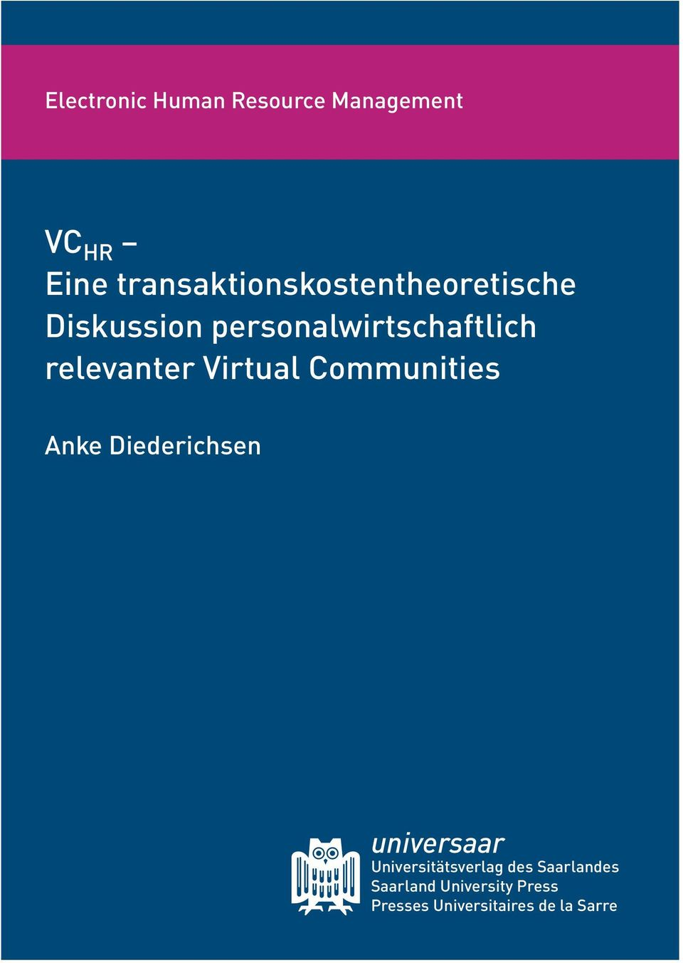 relevanter Virtual Communities Anke Diederichsen universaar