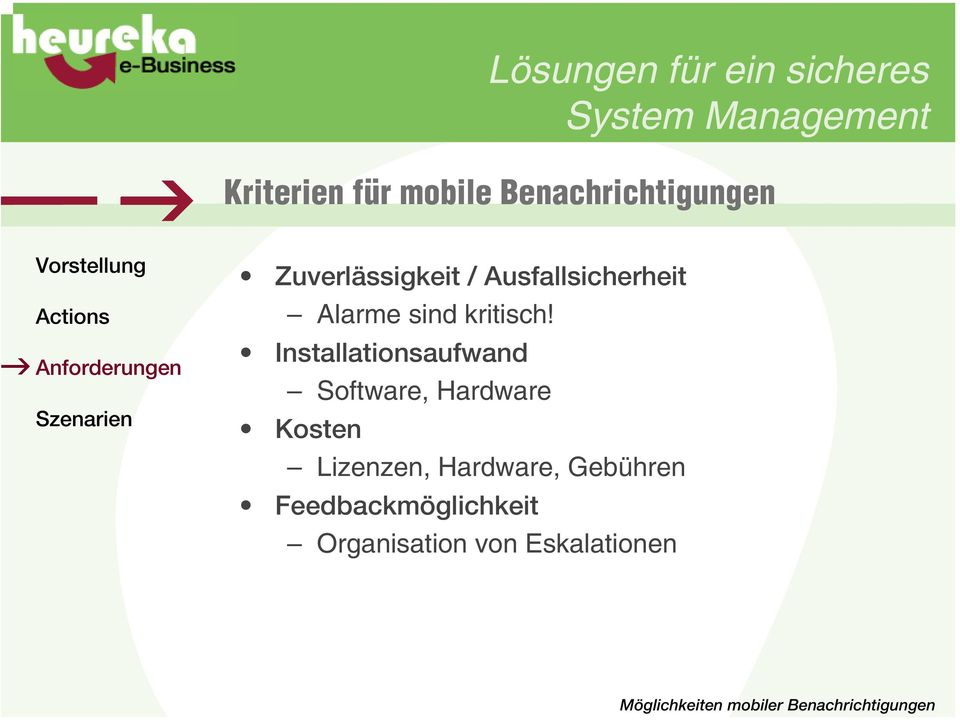Installationsaufwand Software, Hardware Kosten