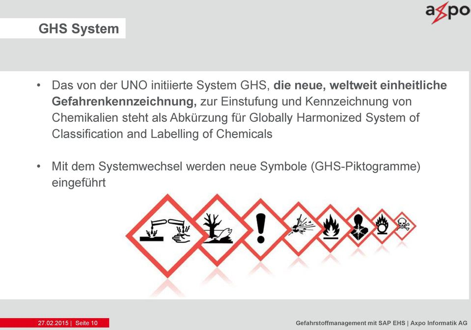 Globally Harmonized System of Classification and Labelling of Chemicals Mit dem Systemwechsel
