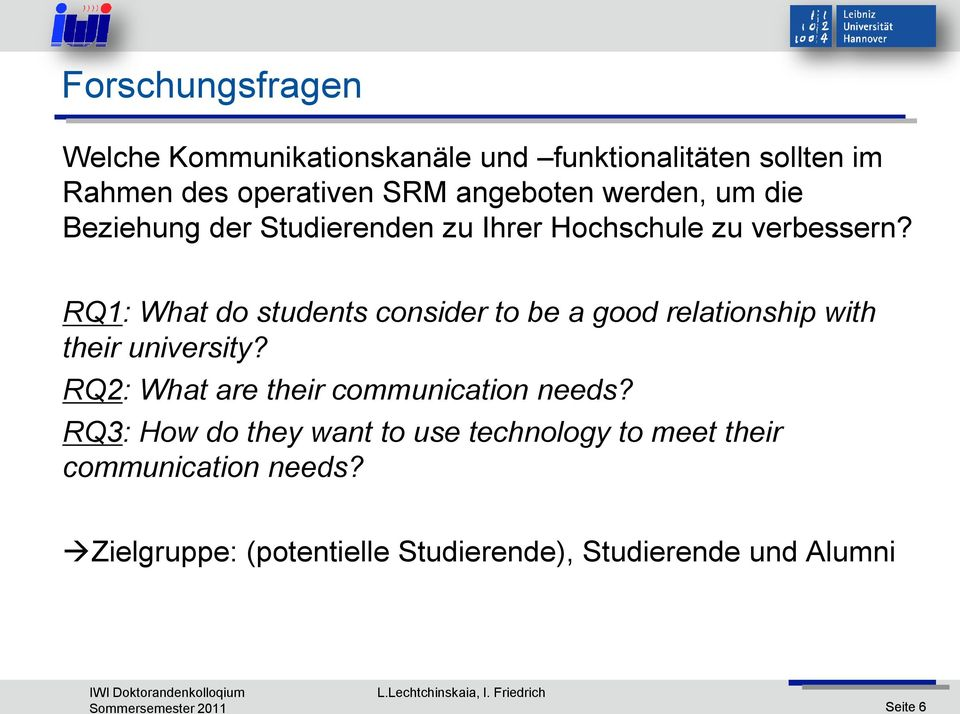 RQ1: What do students consider to be a good relationship with their university?