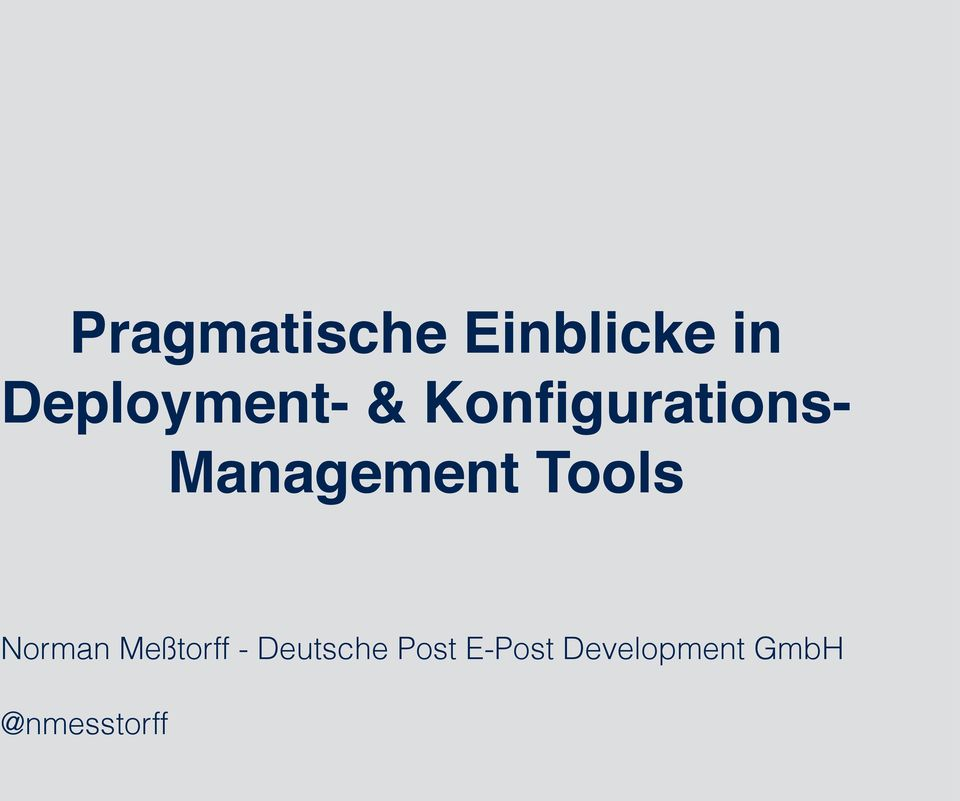 Management Tools Norman Meßtorff -