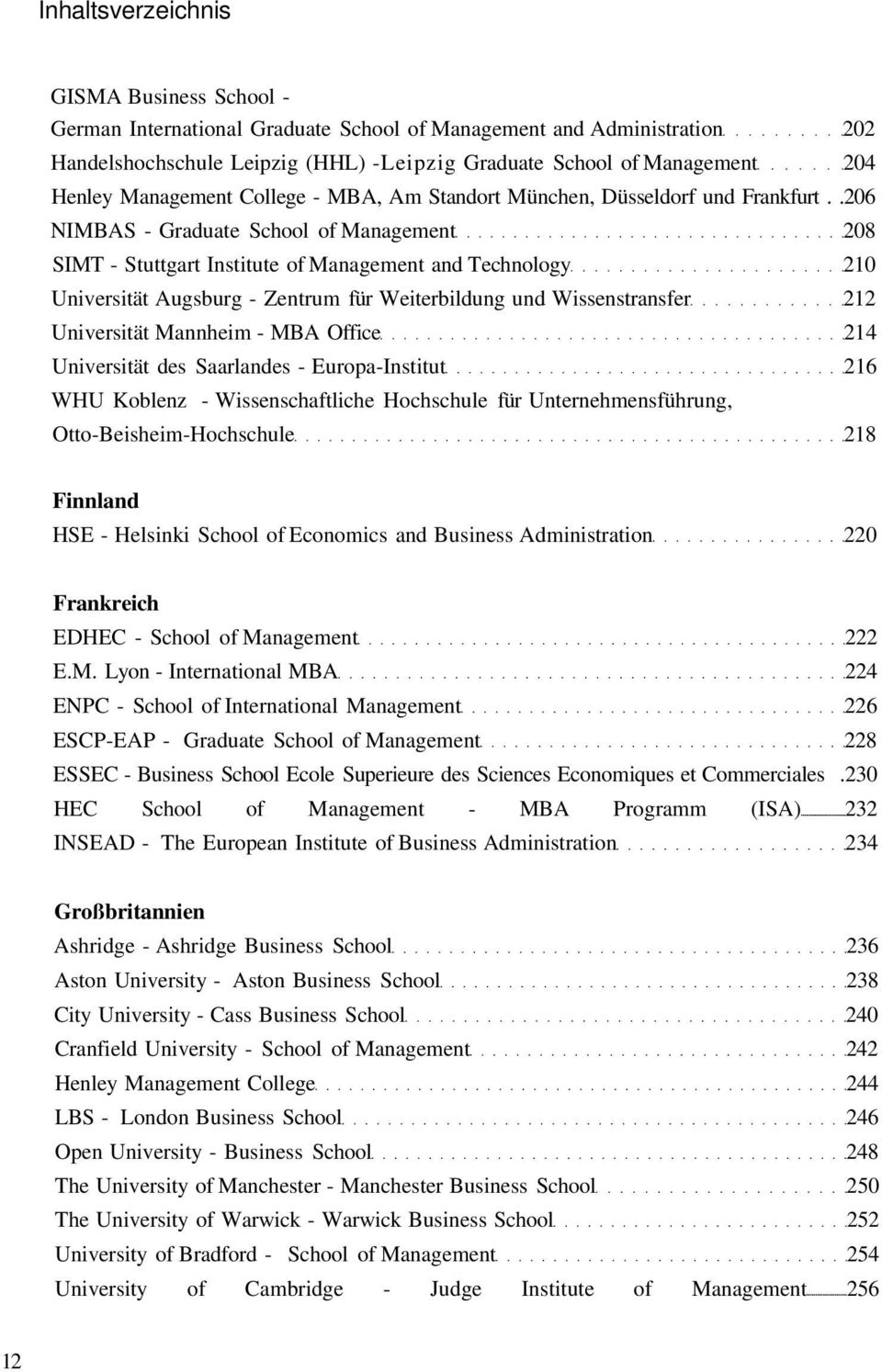 .206 NIMBAS - Graduate School of Management 208 SIMT - Stuttgart Institute of Management and Technology 210 Universität Augsburg - Zentrum für Weiterbildung und Wissenstransfer 212 Universität