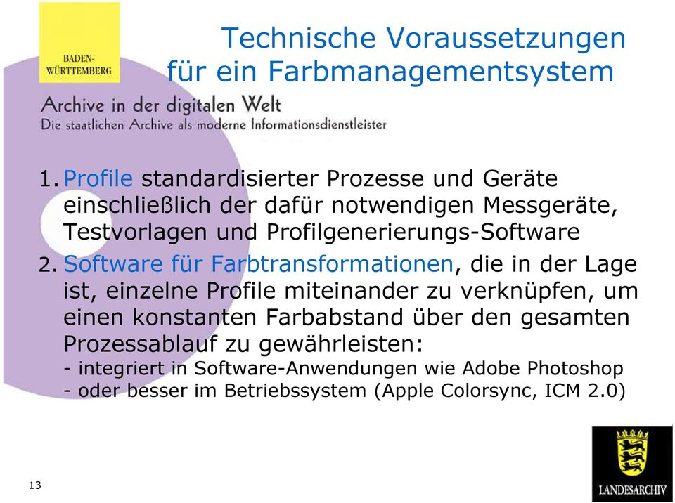 Profilgenerierungs-Software 2.