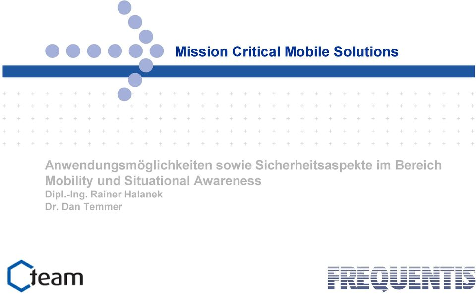 Bereich Mobility und Situational Awareness Dipl.-Ing.
