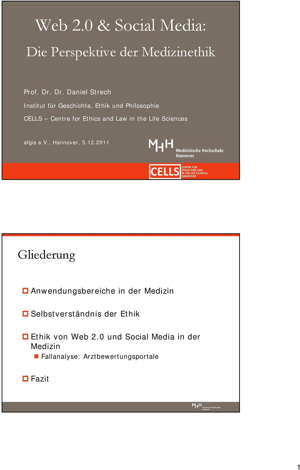 Law in the Life Sciences afgis e.v., Hannover, 5.12.