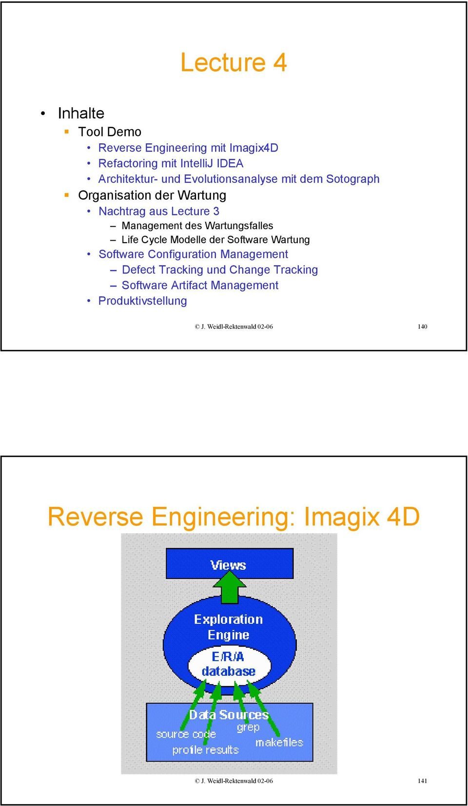 Life Cycle Modelle der Software Wartung Software Configuration Management Defect Tracking und Change Tracking