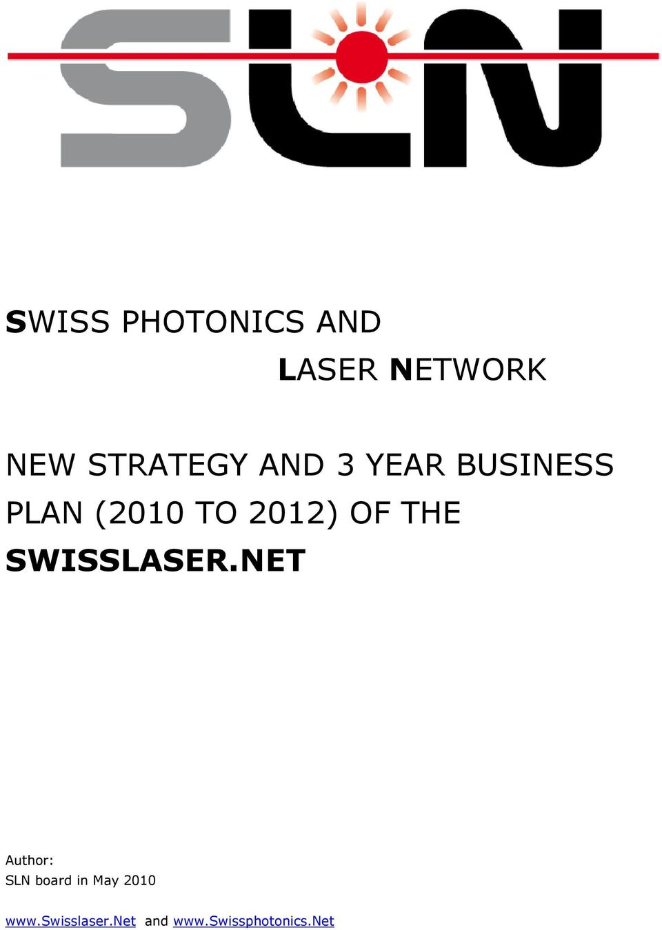 2012) OF THE SWISSLASER.