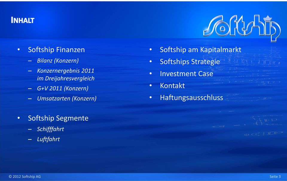 Softship am Kapitalmarkt Softships Strategie Investment Case