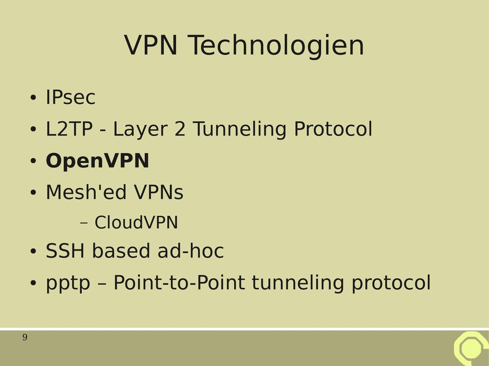 Mesh'ed VPNs CloudVPN SSH based