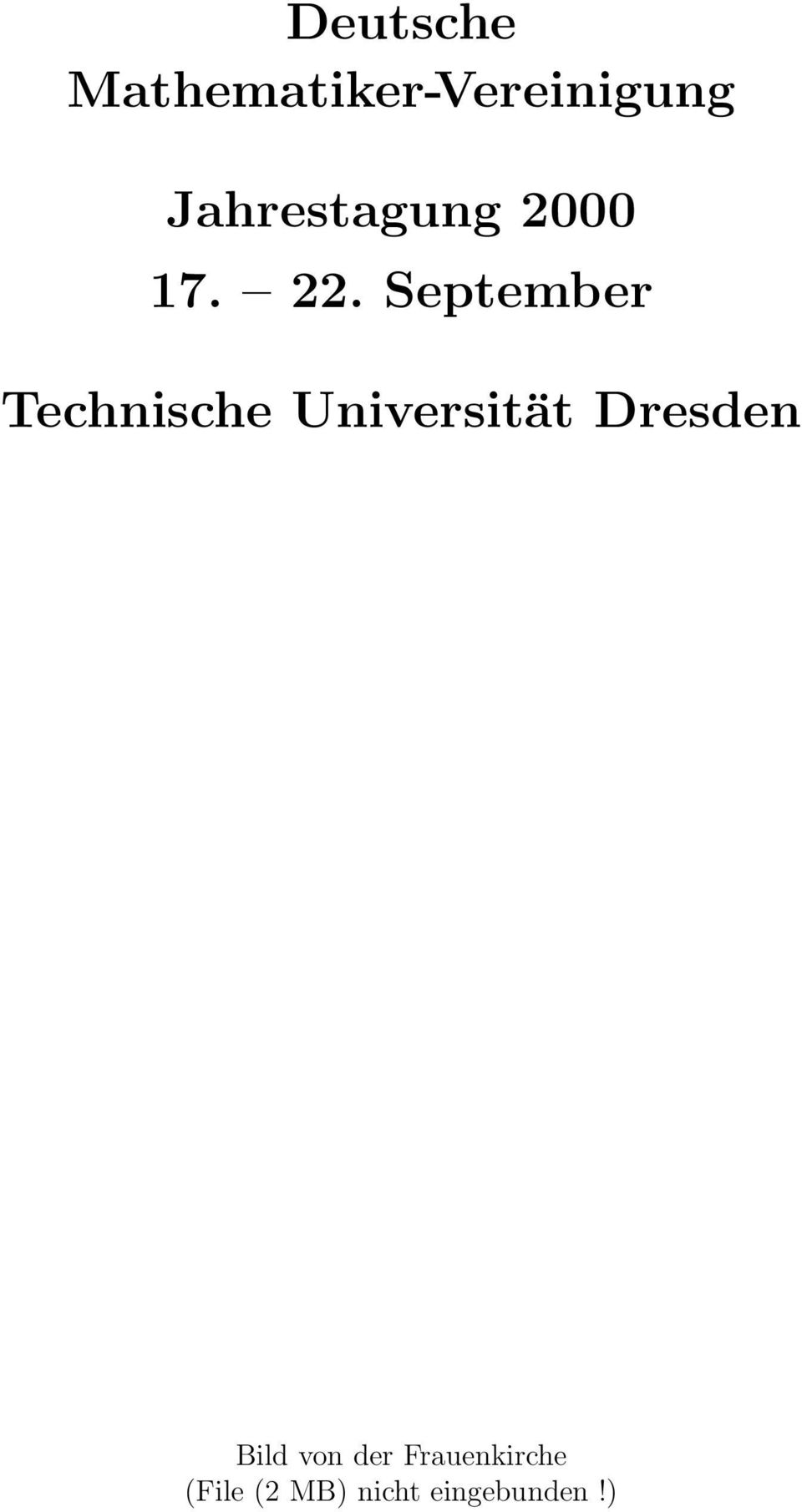 September Technische Universität