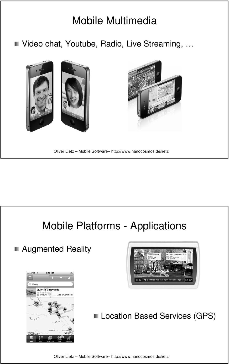 Mobile Platforms - Applications