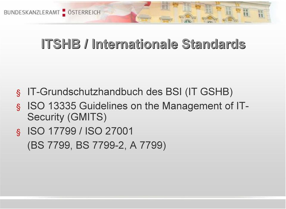 13335 Guidelines on the Management of IT-