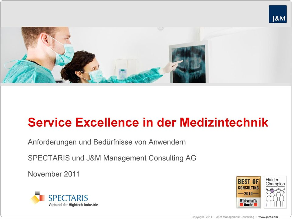 SPECTARIS und J&M Management Consulting AG