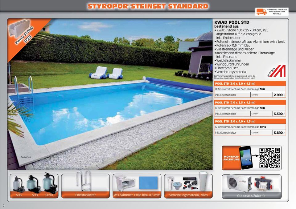 Mehr spa ganz pers nlich pools pdf for Foliensack pool