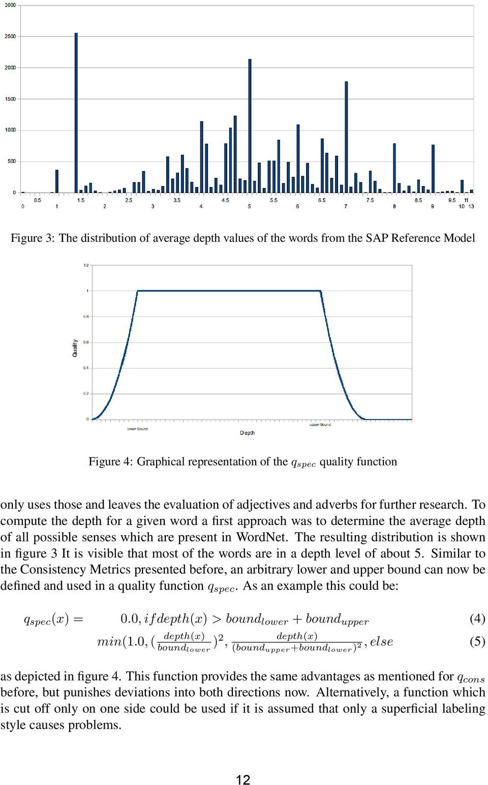 To compute the depth for a given word a first approach was to determine the average depth of all possible senses which are present in WordNet.