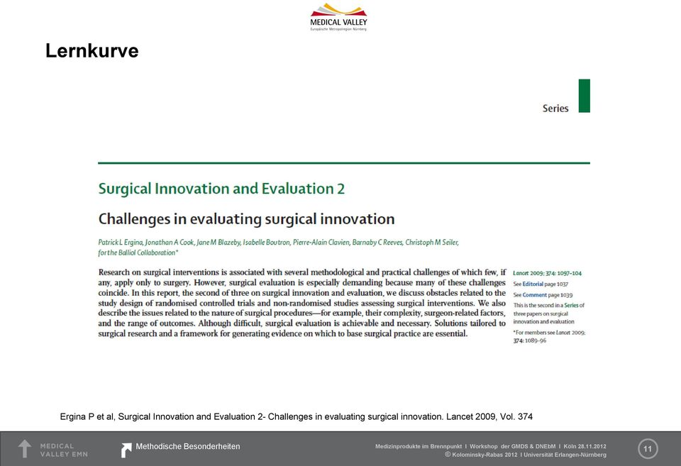 in evaluating surgical innovation.
