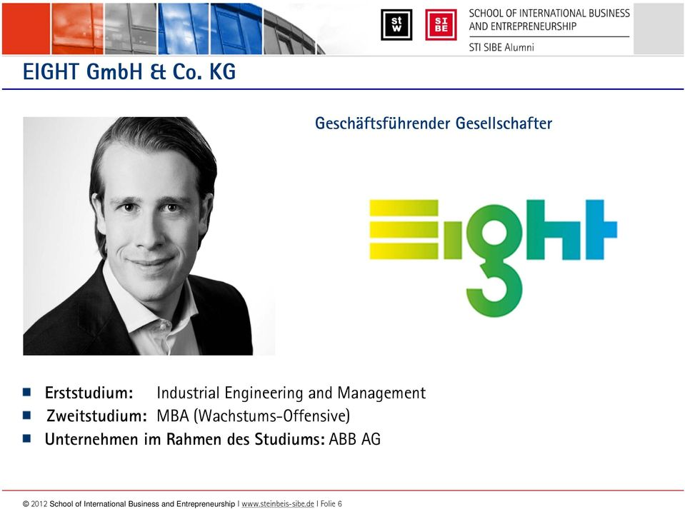 Industrial Engineering and Management Unternehmen im Rahmen