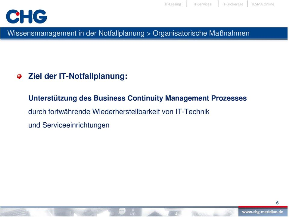 Business Continuity Management Prozesses durch fortwährende